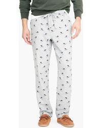 J.Crew - Flannel Pajama Pant In Skier Print - Lyst