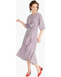 e2a4c69d631 J.Crew - Belted Button-up Dress In Tipped Trifecta Stripe - Lyst