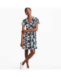 J.Crew - Short-sleeve Button-front Dress In Island Floral - Lyst