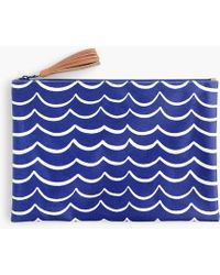 J.Crew - Water-resistant Pouch In Waves - Lyst