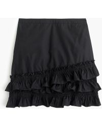 J.Crew - Petite Ruffle Skirt In Cotton-poplin - Lyst