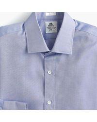Thomas Mason - Slim Fit Two-ply Dress Shirt In Royal Oxford Cotton - Lyst