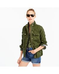 J.Crew - Petite Quilted Downtown Field Jacket - Lyst