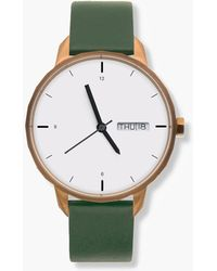 J.Crew - Tinker 42mm Copper-toned Watch With Green Strap - Lyst