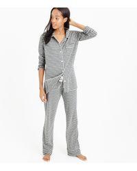 J.Crew - Petite Dreamy Cotton Pajama Set In Stripe - Lyst