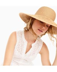 J.Crew - Textured Summer Straw Hat - Lyst
