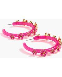 J.Crew - Flower Clock Hoop Earrings - Lyst