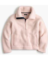 J.Crew - Half-zip Sweatshirt In Polartec Fleece - Lyst