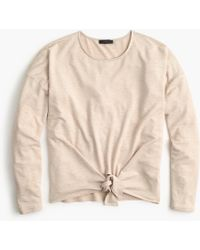 J.Crew - Tie-front Long-sleeve T-shirt - Lyst
