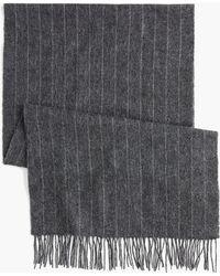 J.Crew - Charcoal Stripe Alpaca Scarf - Lyst