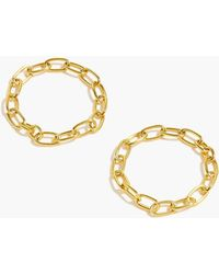 J.Crew - Demi-fine 14k Gold-plated Chain Ring Set - Lyst
