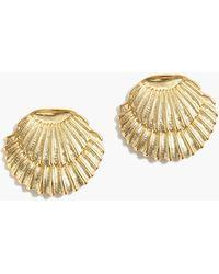 J.Crew - Double Seashell Earrings - Lyst