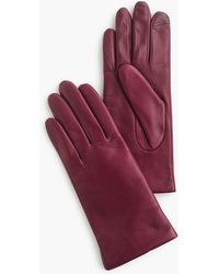 J.Crew - Cashmere-lined Leather Tech Gloves - Lyst