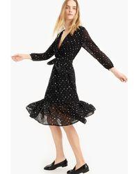 J.Crew - Point Sur Faux-wrap Dress In Crinkle Chiffon - Lyst