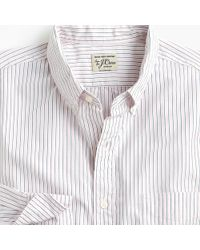 J.Crew - Slim Stretch Secret Wash Shirt In Mixed Stripe - Lyst