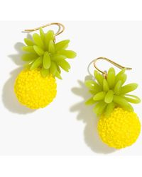 J.Crew - Pineapple Earrings - Lyst