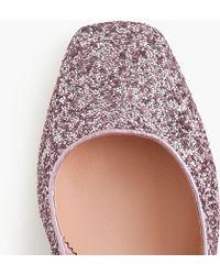 J.Crew - Block-heel Court Shoes In Glitter - Lyst