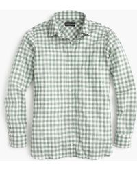 J.Crew - Relaxed Boy Shirt In Crinkle Gingham - Lyst