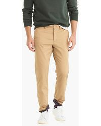 J.Crew - 770 Straight Stretch Chino Cabin Pant With Plaid Flannel Lining - Lyst