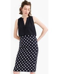 4c2c97248 J.Crew - Petite Pencil Skirt In Polka-dot Textured Tweed - Lyst