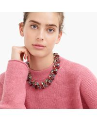 J.Crew - Cluster Drop Stone Necklace - Lyst