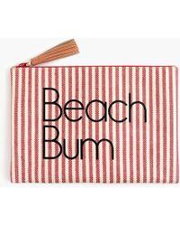 "J.Crew - Water-resistant Pouch In ""beach Bum"" - Lyst"