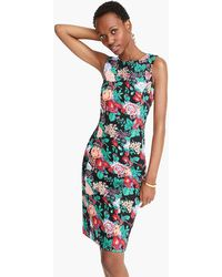 J.Crew - Sleeveless Floral Sheath Dress In Two-way Stretch Cotton - Lyst