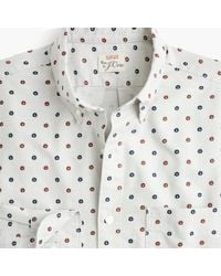 6df51ccbd2fc6 J.Crew - Slim American Pima Cotton Daisy Print Oxford Shirt With Mechanical  Stretch -