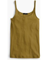 J.Crew - Slim Perfect Tank Top With Built-in Bra - Lyst