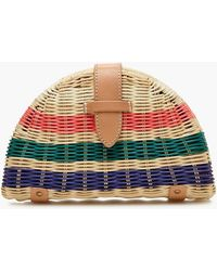 J.Crew - Fan Rattan Clutch In Stripe - Lyst