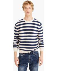 J.Crew - Cotton Crewneck Sweater In Striped Garter Stitch - Lyst