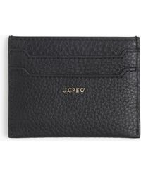 J.Crew - Slim Card Case In Pebbled Leather - Lyst
