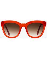 18dacea424 J.Crew - Cabana Oversized Sunglasses - Lyst