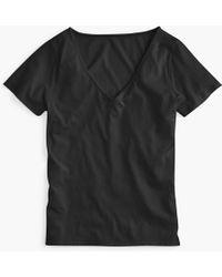 J.Crew - Supersoft Supima Raw-edge V-neck T-shirt - Lyst