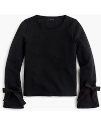 J.Crew - Tie-sleeve Sweatshirt - Lyst