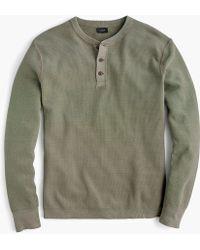 J.Crew - Pigment-dyed Cotton Henley - Lyst