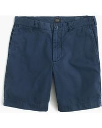 "J.Crew - 9"" Short In Garment-dyed Cotton - Lyst"