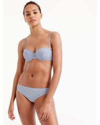 73b109103f Lyst - J.Crew Girls' Ruffled Bikini Set In Seersucker in Blue