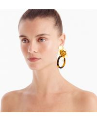 J.Crew - Flower And Tortoise Door Knocker Earrings - Lyst