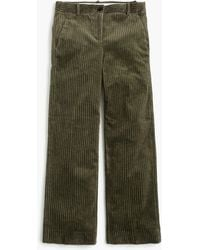 J.Crew - Wide-leg Cropped Pant In Corduroy - Lyst