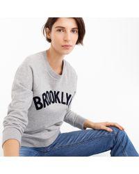 "J.Crew - ""brooklyn"" Pullover Sweatshirt - Lyst"