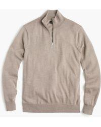 J.Crew - Slim Italian Merino Wool Half-zip Jumper - Lyst