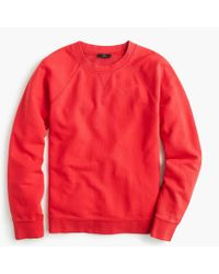 J.Crew - Garment-dyed Crewneck Sweatshirt - Lyst