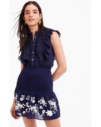 J.Crew - Petite Point Sur Embroidered Stretch Skirt - Lyst