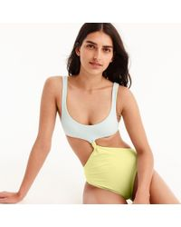 J.Crew - Reversible Knot-front One-piece Swimsuit - Lyst
