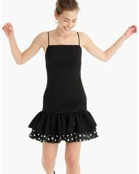 J.Crew - Fluted Stretch Faille Party Dress With Double-ruffle Hem - Lyst