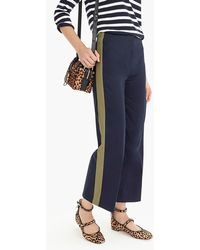 J.Crew - Petite Wide-leg Cropped Pant With Side Stripes - Lyst