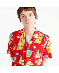 Gitman Brothers Vintage - Short-sleeve Shirt In Red Floral Print - Lyst
