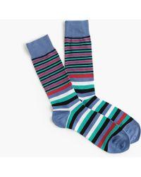 J.Crew - White Multistripe Socks - Lyst