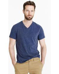 J.Crew - Slim Mercantile Broken-in V-neck Heather T-shirt - Lyst
